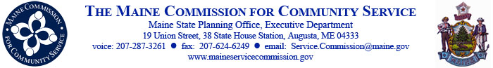 Maine Commission for Community Service logo