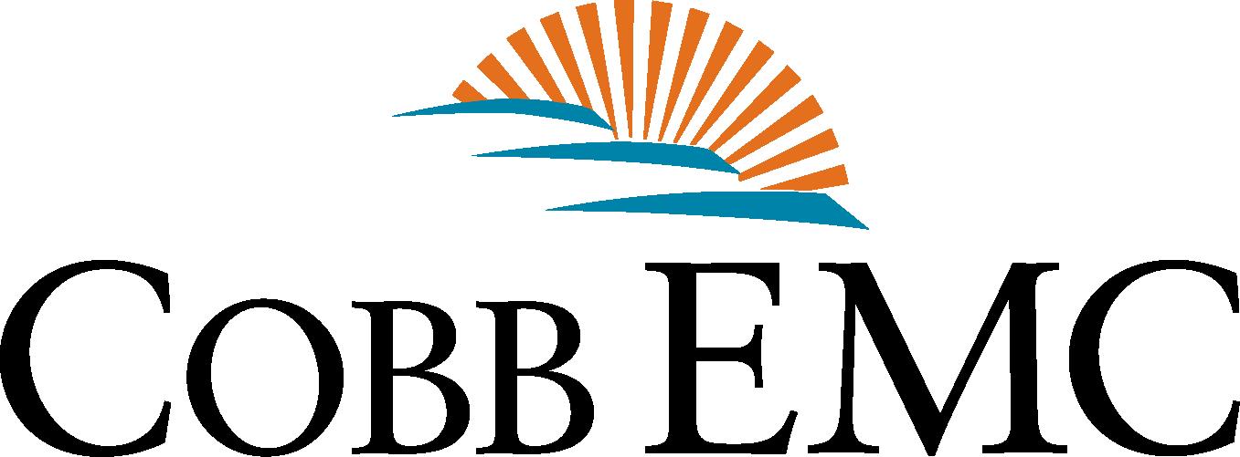 Cobb EMC logo, sun, mountains..