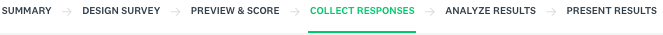 Collect responses section