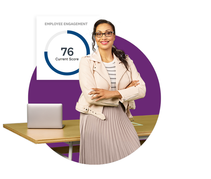 HR employee with employee engagement score