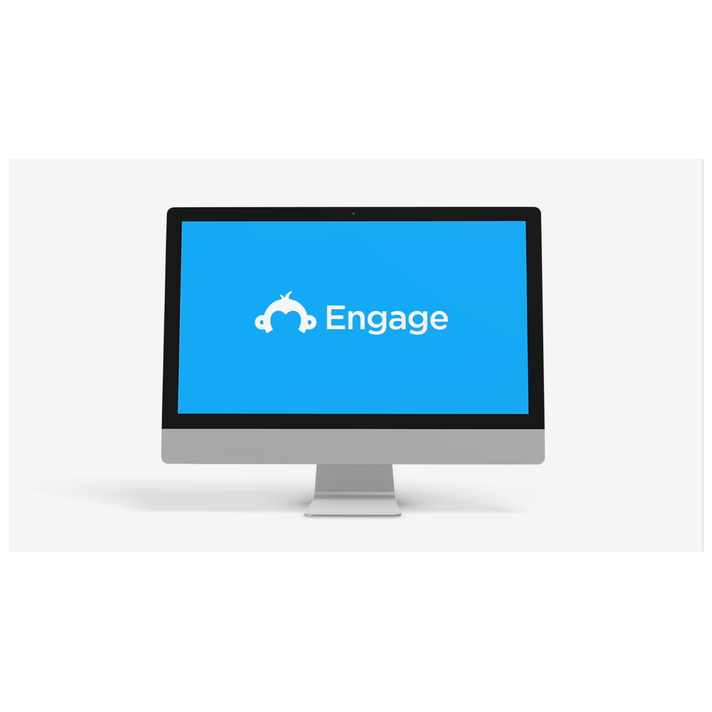 Computer with Engage logo
