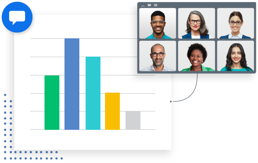 Zoom meeting with charts