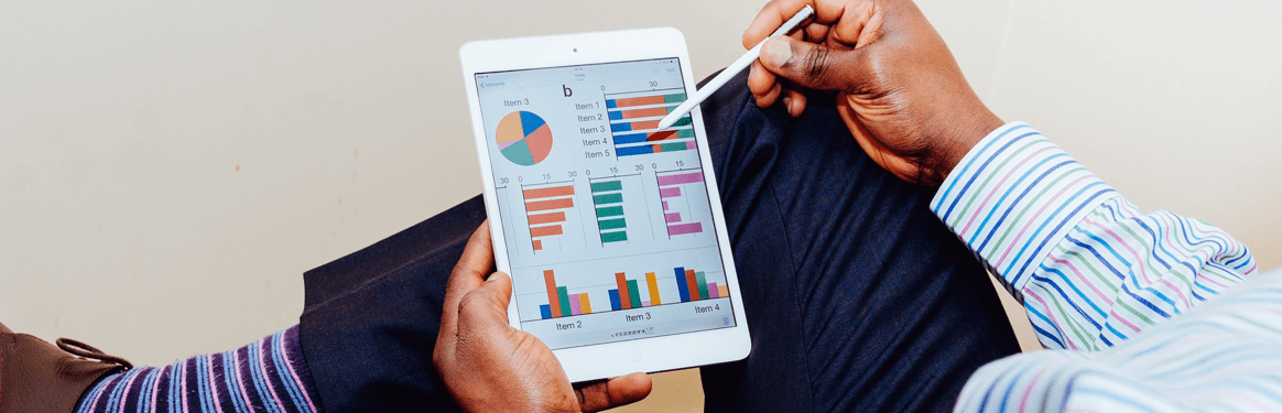 Analyzing results on tablet