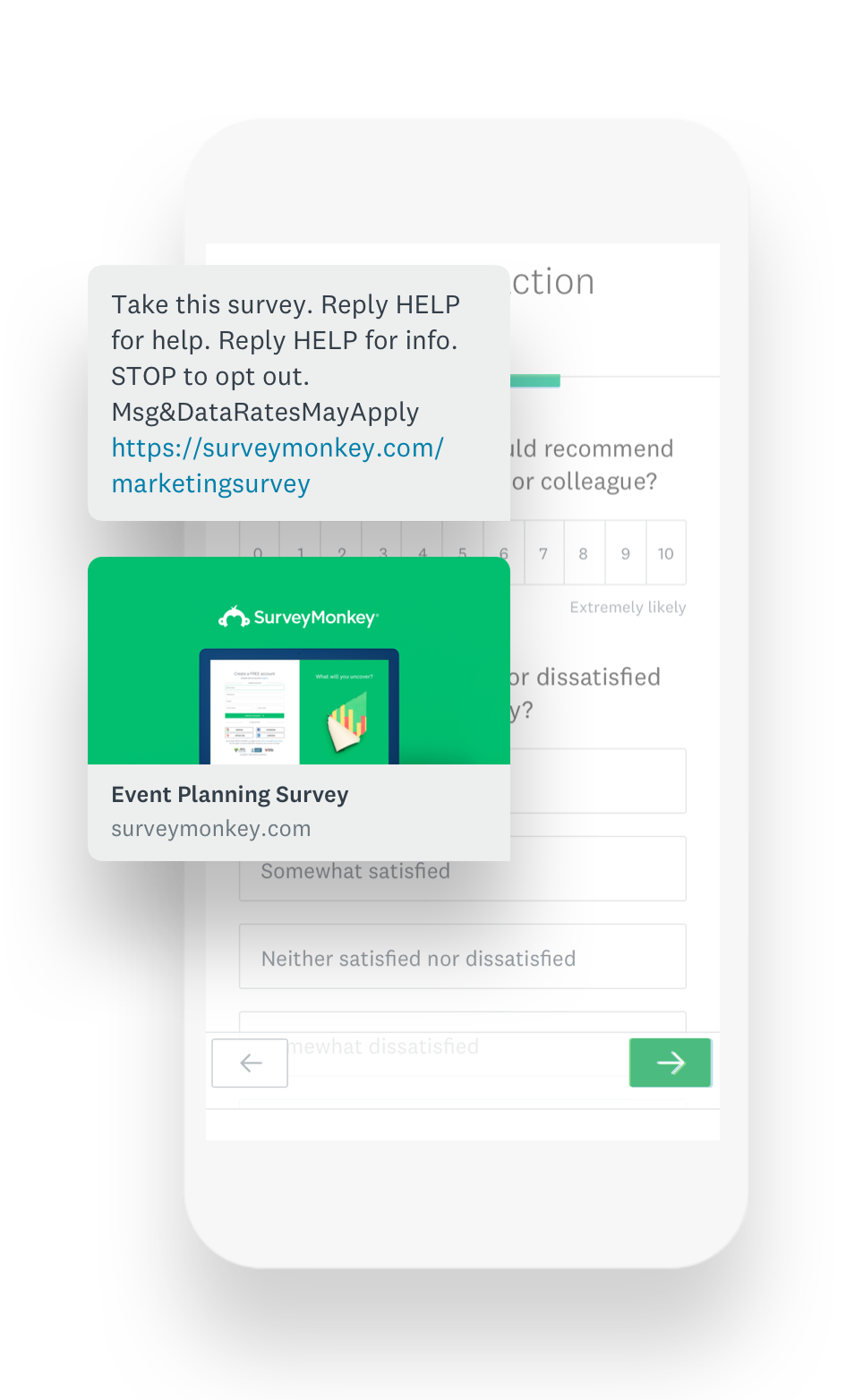 Mobile survey example
