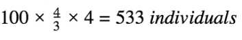 Calculation of the number of people you should survey