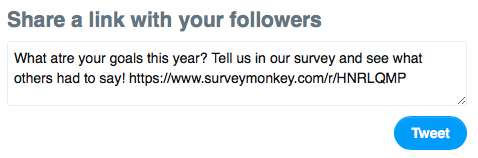 Sharing a survey on Twitter