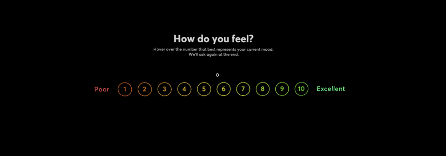 Tripp VR experience rating scale
