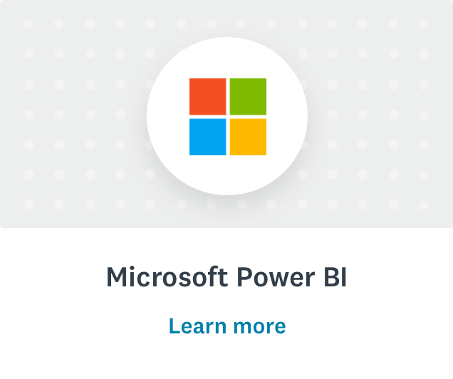Microsoft logo and learn more