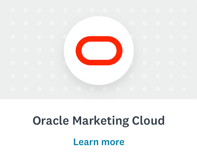 Oracle logo and learn more
