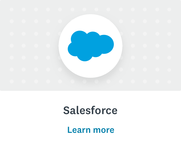 Salesforce logo and learn more