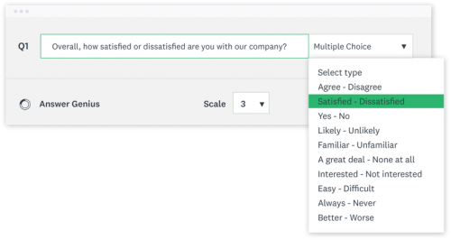 Example of a Likert scale