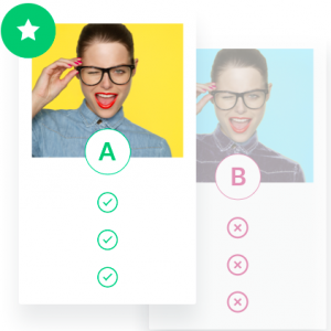 A/B concept test with glasses