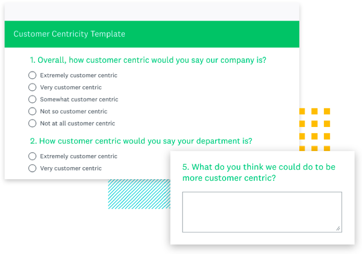 customer centricity survey template preview