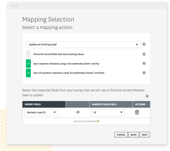 Mapping selection
